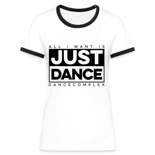 Kontrast Shirt Woman JUST DANCE BLACK white/black - Frauen Kontrast-T-Shirt