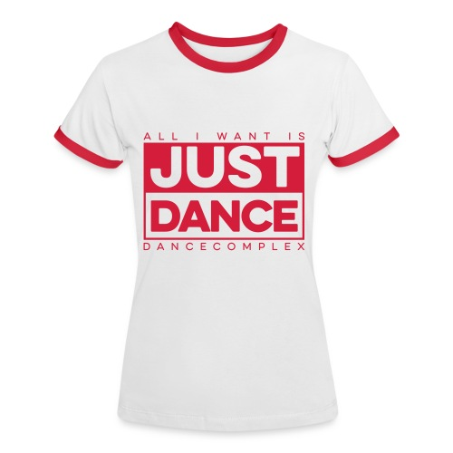 Kontrast Shirt Woman JUST DANCE RED white/red - Frauen Kontrast-T-Shirt