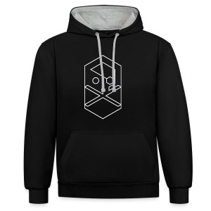 CROSSBONES black - Contrast Colour Hoodie