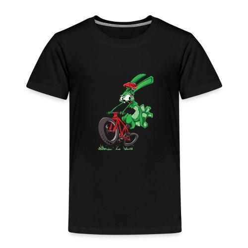 Lapin sur vélo - T-shirt Premium Enfant