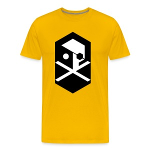 THE CAP'TAIN yellow - Men's Premium T-Shirt