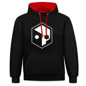OG SKULL black/red - Contrast Colour Hoodie