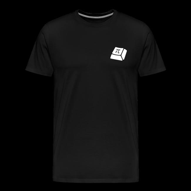 T-Shirt:Premium - Herren - Weißes Logo