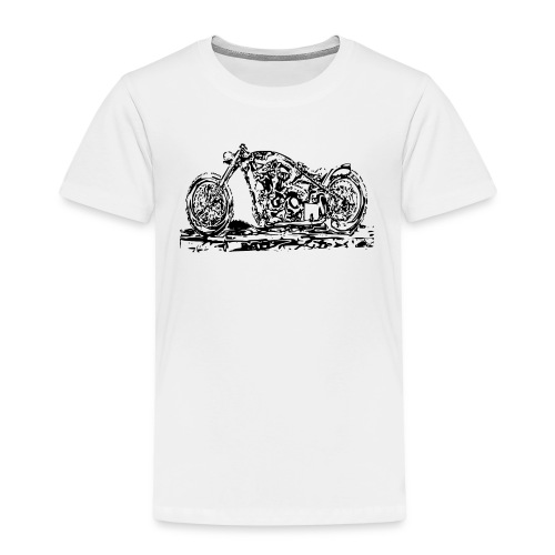 Kinder Premium T-Shirt Chopper Black - Kinder Premium T-Shirt
