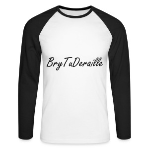 Le BryTuDERAILLE D OR - T-shirt baseball manches longues Homme