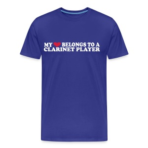 My hearth belongs to a clarinet player - Men's Premium T-Shirt