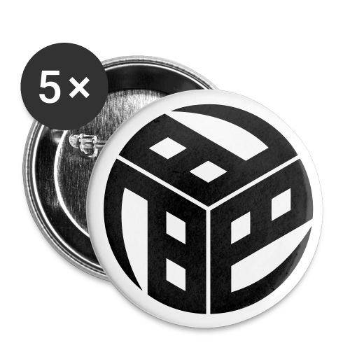Mitsudomoe Kanji (stylisiert) - Buttons klein 25 mm