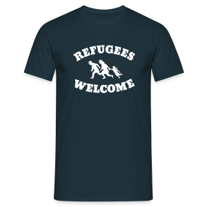 Refugees Welcome - Männer T-Shirt