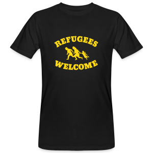 Refugees Welcome - Männer Bio-T-Shirt