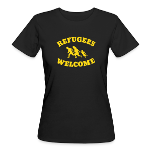 Refugees Welcome - Frauen Bio-T-Shirt