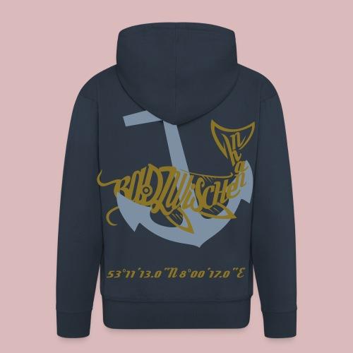 Navy Jacke Männer - Männer Premium Kapuzenjacke