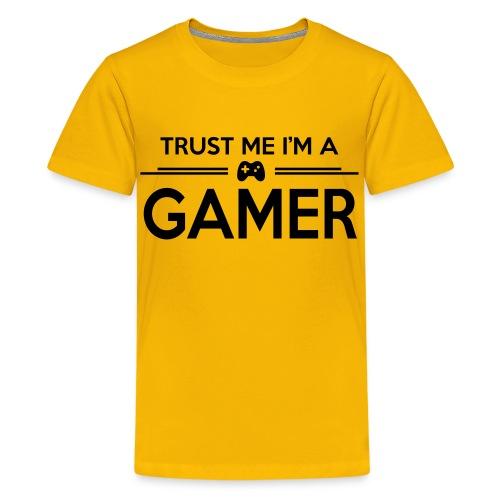 Trust Me I'm A Gamer (Yellow) - Teenage Premium T-Shirt