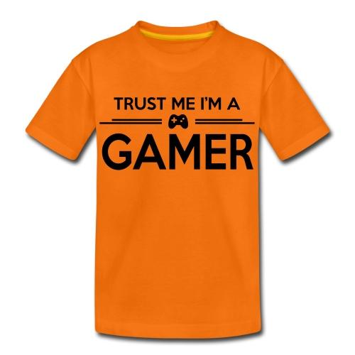 Trust Me I'm A Gamer (Orange) - Teenage Premium T-Shirt