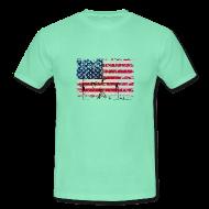 Tee shirts ~ Tee shirt Homme ~ usa flag tag