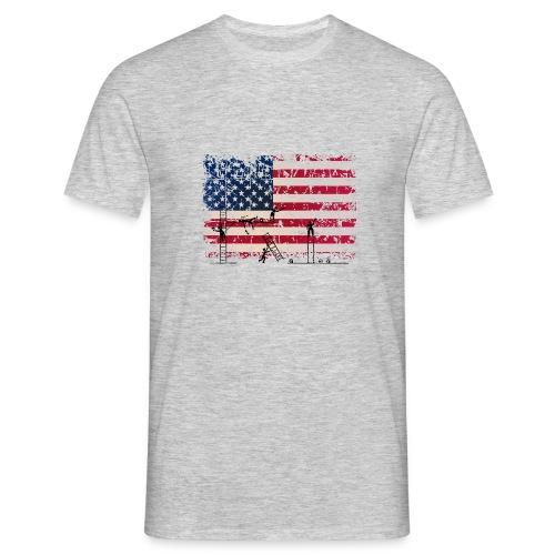 usa flag tag - Men's T-Shirt