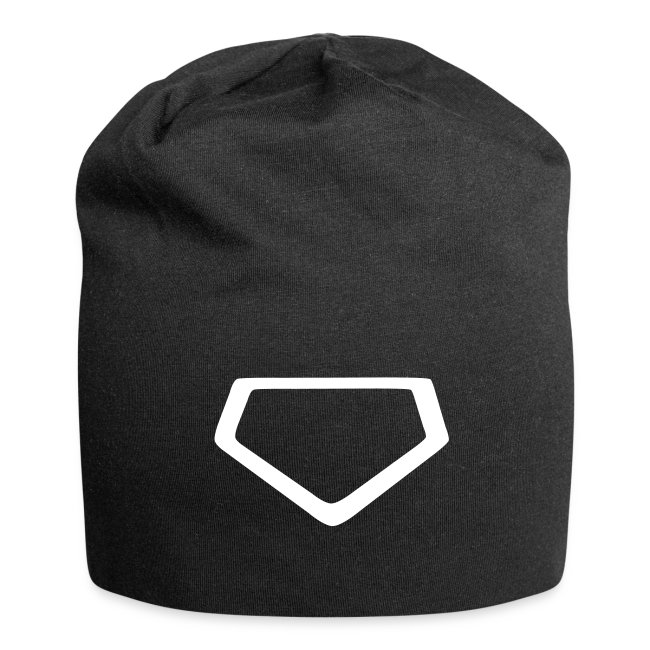 Beanie with stylized homeplate