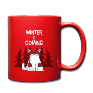Mrou le chat Winter is coming - Tasse en couleur