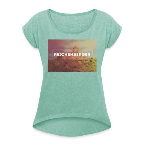 WeLoveOppes | Reichenberger | Frauen Shirt mit gerollten Ärmeln - Frauen T-Shirt mit gerollten Ärmeln