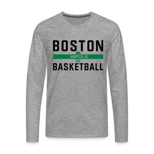 Boston Basketball Longsleeve - Männer Premium Langarmshirt