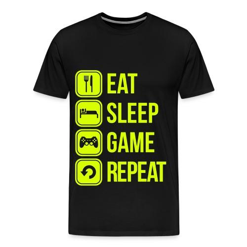 Eat Sleep Game Repeat - T-shirt Premium Homme