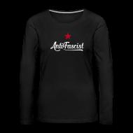 Langarmshirts ~ Frauen Premium Langarmshirt ~ AntiFascist Langarmshirt Frauen