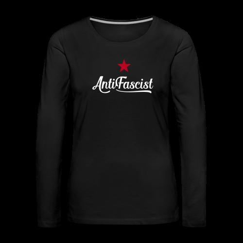 AntiFascist Langarmshirt Frauen - Frauen Premium Langarmshirt