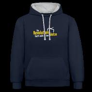 Pullover & Hoodies ~ Kontrast-Kapuzenpullover ~ Die Revolution läuft nicht in der Glotze Kontrast-Hoodie