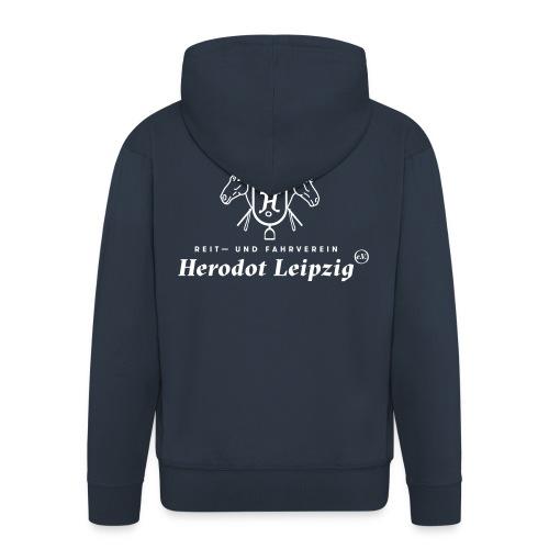 Kapuzenjacke (navy) – Herodot Leipzig – Männer - Männer Premium Kapuzenjacke