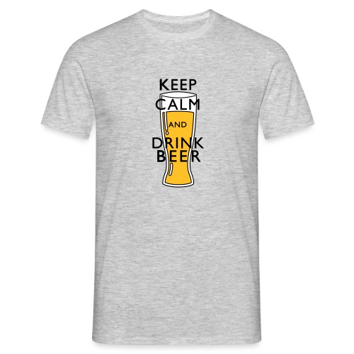 KEEP CALM AND DRINK BEER ! - T-shirt Homme