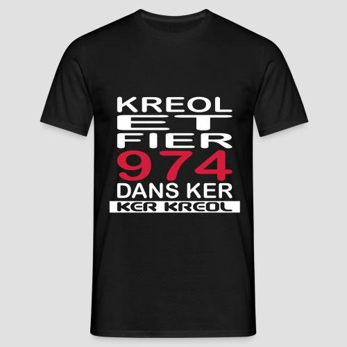 Tee shirt homme Kreol et Fier 974 - T-shirt Homme