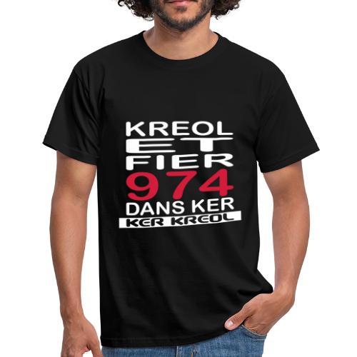 Tee shirt homme Kreol et Fier 974 dans ker - 974 Ker kreol - T-shirt Homme