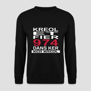 Sweat-shirt Homme Kreol et Fier 974 - Sweat-shirt Homme