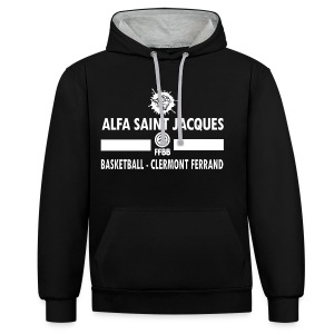 Hoodie personnalisable Practice ADULTE - Sweat-shirt contraste