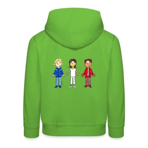 enfants tricolores - Pull à capuche Premium Enfant