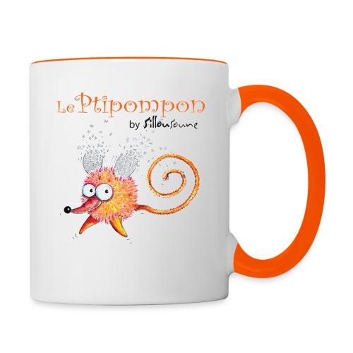 Mug bicolore Ptipompon-Sillousoune - Mug contrasté