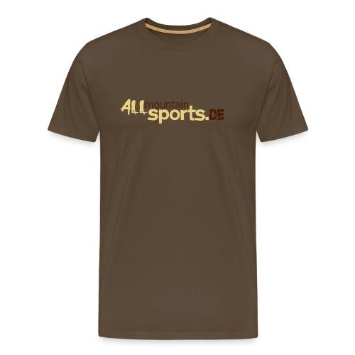 T-Shirt ALLmountainSPORTS.de edelbraun/beige - Männer Premium T-Shirt