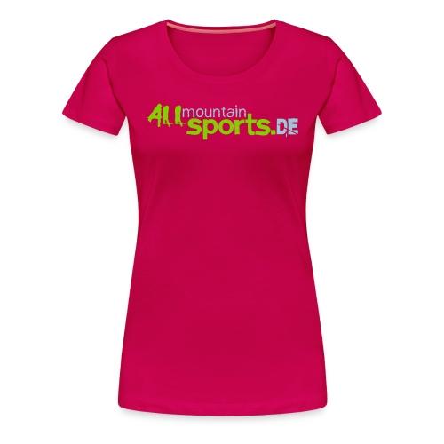 T-Shirt PINK ALLmountainSPORTS.de - Frauen Premium T-Shirt