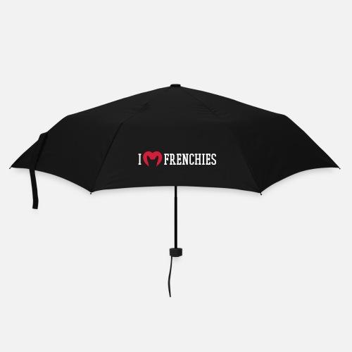 I love Frenchies - Regenschirm (klein)