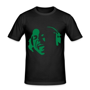Face Singing Green - Men's Slim Fit T-Shirt