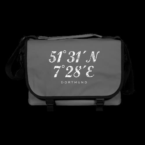 Dortmund Koordinaten Tasche (Distressed Weiß) - Umhängetasche