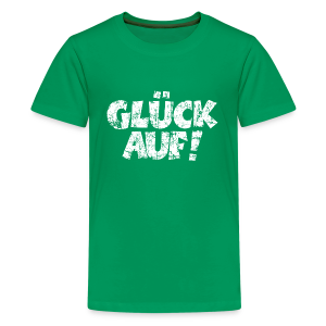 Glück Auf Teenager T-Shirt (Distressed Weiß) - Teenager Premium T-Shirt