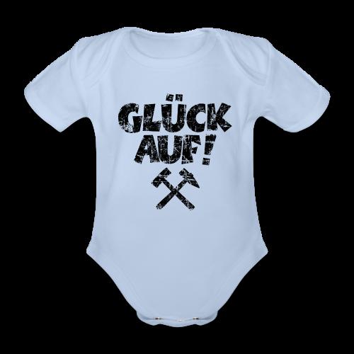 Glück Auf Ruhrpott Baby Body (Distressed Schwarz) - Baby Bio-Kurzarm-Body