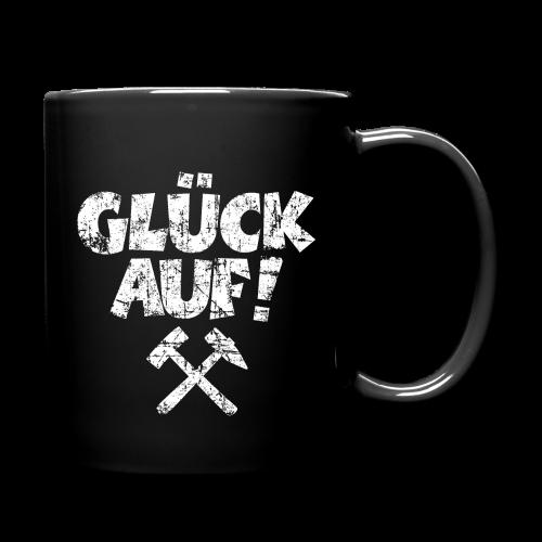 Glück Auf Ruhrpott Tasse (Distressed Weiß) - Tasse einfarbig