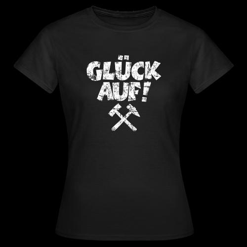 Glück Auf Ruhrpott T-Shirt (Distressed Weiß) - Frauen T-Shirt