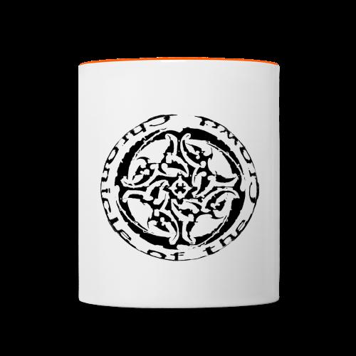 Milch Kaffee Pott - Tasse zweifarbig
