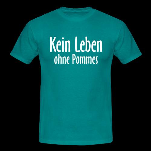 Kein Leben ohne Pommes T-Shirt (Herren/Divablau) - Männer T-Shirt