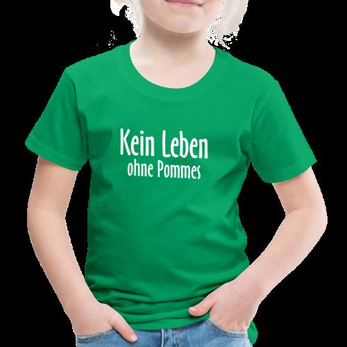 Kein Leben ohne Pommes (Weiß) Kinder T-Shirt - Kinder Premium T-Shirt