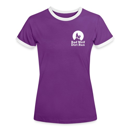 Bad Wolf Dirt Run - Frauen Kontrast-T-Shirt