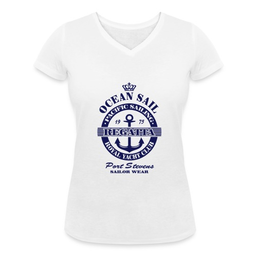 Ocean Sail Regatta - Women's Organic V-Neck T-Shirt by Stanley & Stella