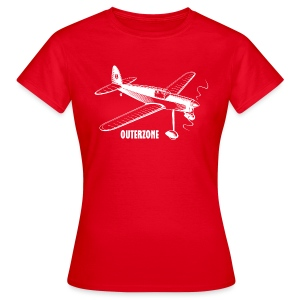 Outerzone t-shirt, white logo (women) - Women's T-Shirt